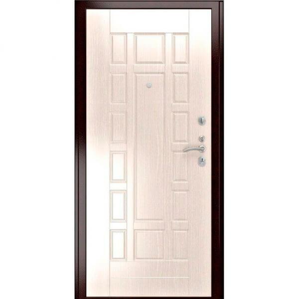 дверь с белой мдф плитой
