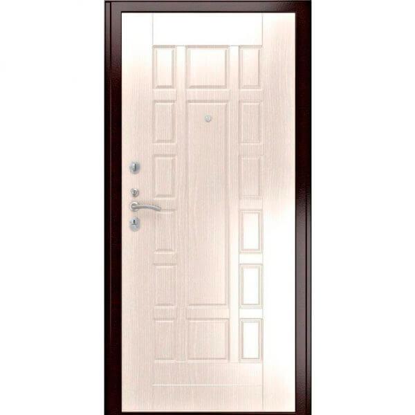 дверь с белой мдф плитой-zerkalo