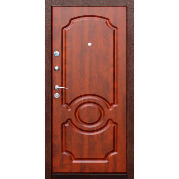 дверь с мдф красное дерево