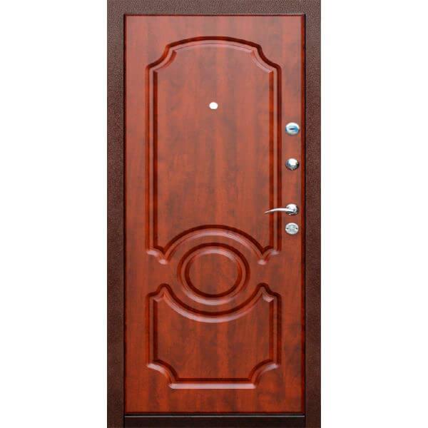 дверь с мдф красное дерево-zerkalo