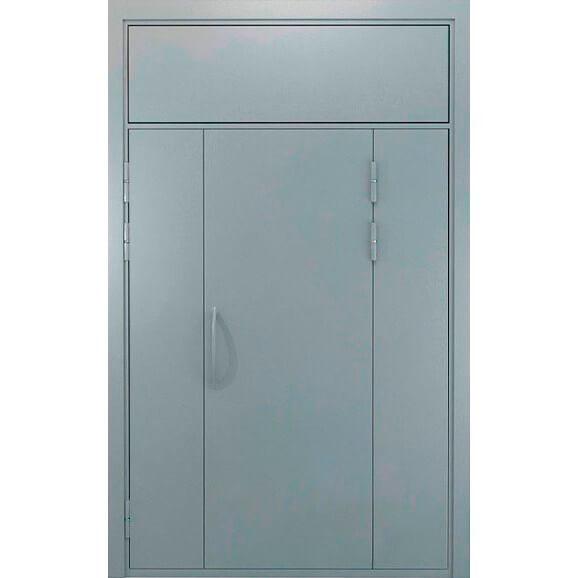 дверь в подъезд с боковыми глухарями и верхней фрамугой (внутри)-zerkalo-zerkalo