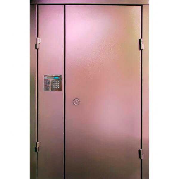 дверь в подъезд с покраской порошковым напылением
