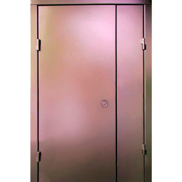 дверь в подъезд с покраской порошковым напылением (внутри)-zerkalo