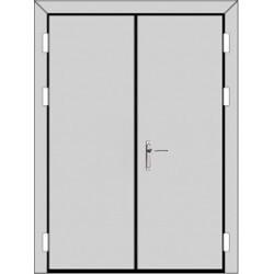 Двухстворчатая дверь (3 к 4) с планкой