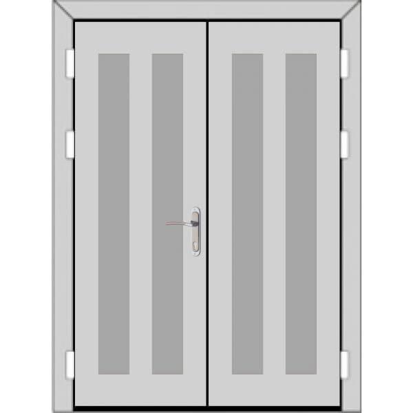 Двухстворчатая дверь (3 к 4)-zerkalo