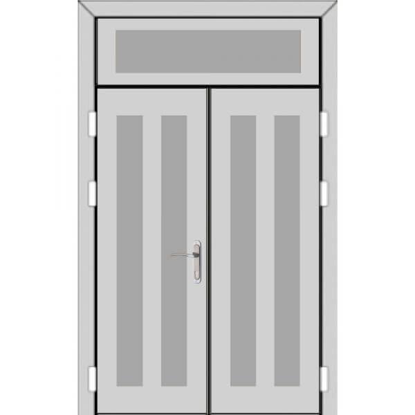 Двухстворчатая дверь с фрамугой сверху (5 к 8)-zerkalo
