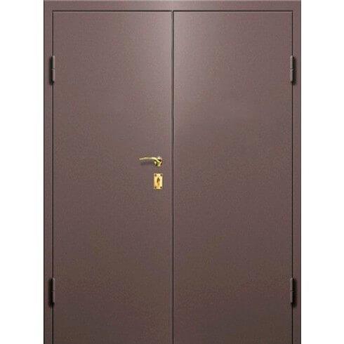 двухстворчатая дверь с равными створками (шагрень)-zerkalo