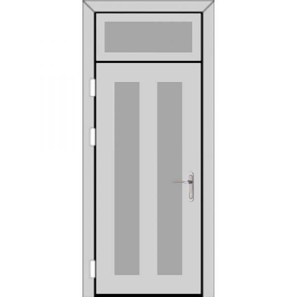 Одностворчатая дверь фрамугой сверху (4 к 9)