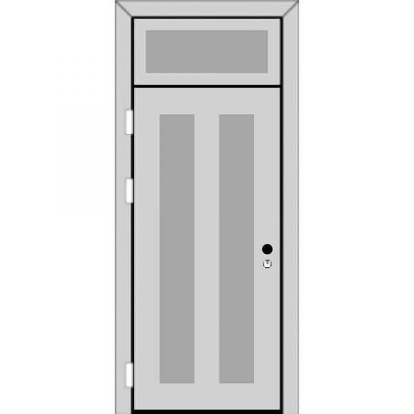 Одностворчатая дверь фрамугой сверху (4 к 9) с ручкой