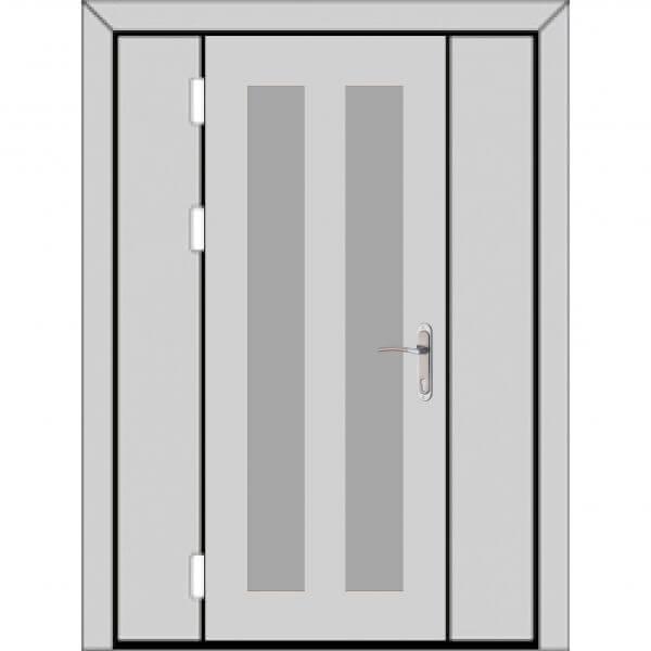 Одностворчатая дверь с боковыми глухарями (3 к 4)