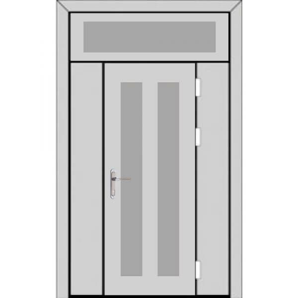 Одностворчатая дверь с боковыми глухарями и верхней фрамугой-zerkalo