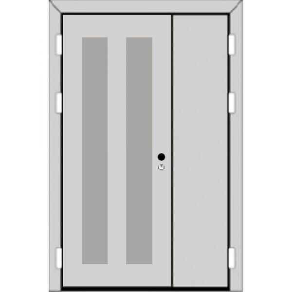 Полуторная дверь (2 к 3) с ручкой