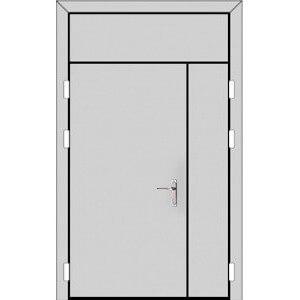 Полуторная дверь с фрамугой сверху (5 к 8)-с планкой-zerkalo