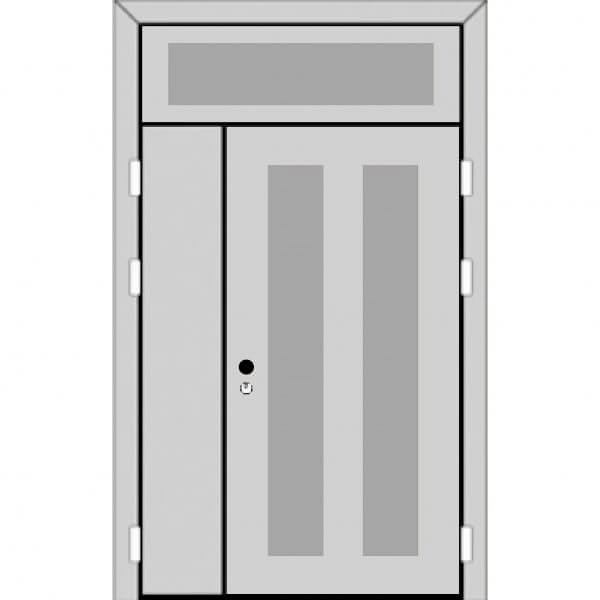 Полуторная дверь с фрамугой сверху (5 к 8) с ручкой-back-z