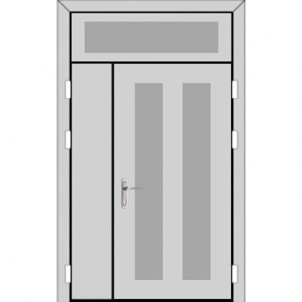 Полуторная дверь с фрамугой сверху (5 к 8)-zerkalo