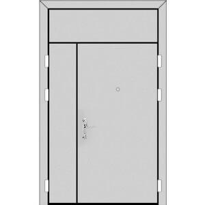Полуторная дверь с фрамугой сверху (5 к 8)-zerkalo-s-ruchk