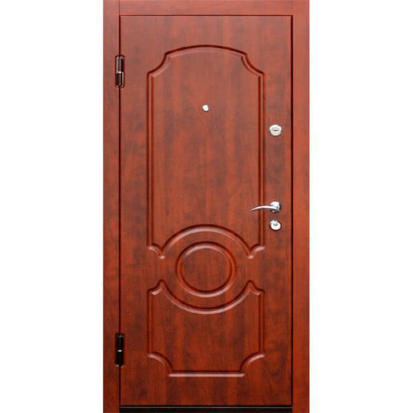 стальная дверь с мдф под красное дерево