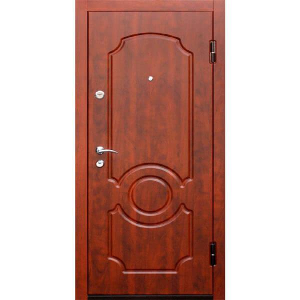 стальная дверь с мдф под красное дерево-zerkalo