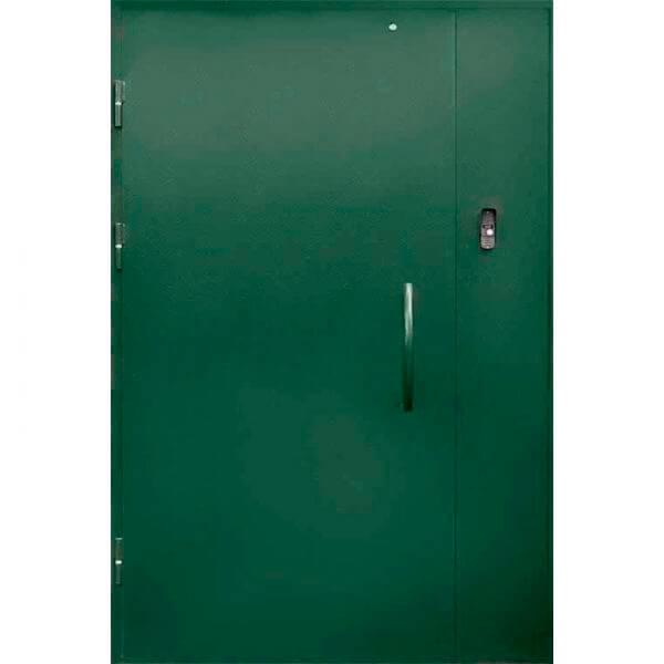 зеленая дверь в парадную с глухарем(снаружи)-zerkalo